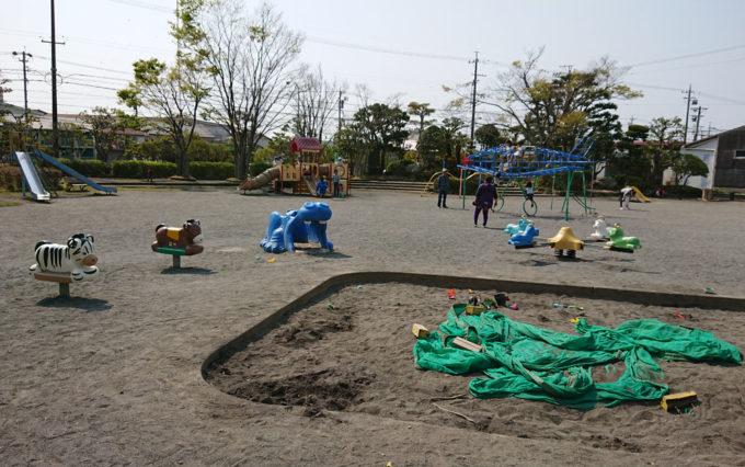 高松公園にある砂場