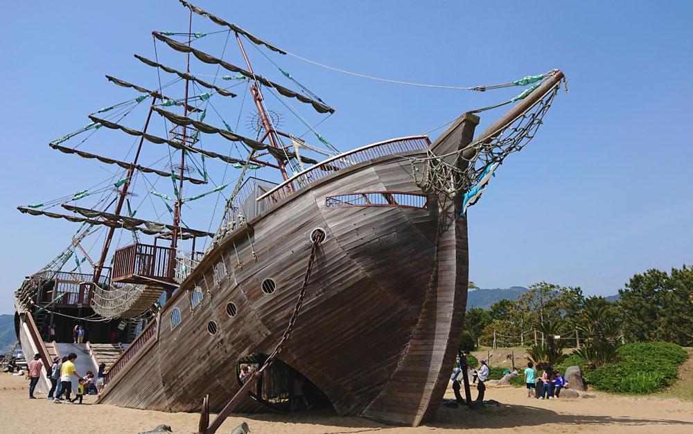 広野海岸公園の難破船
