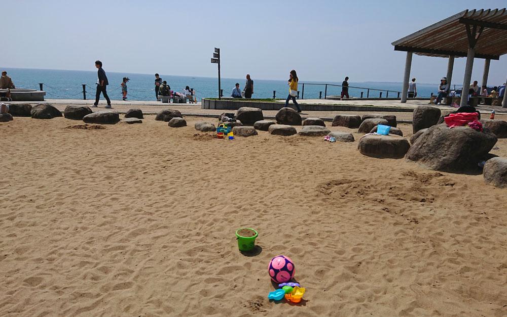 広野海岸公園の砂場