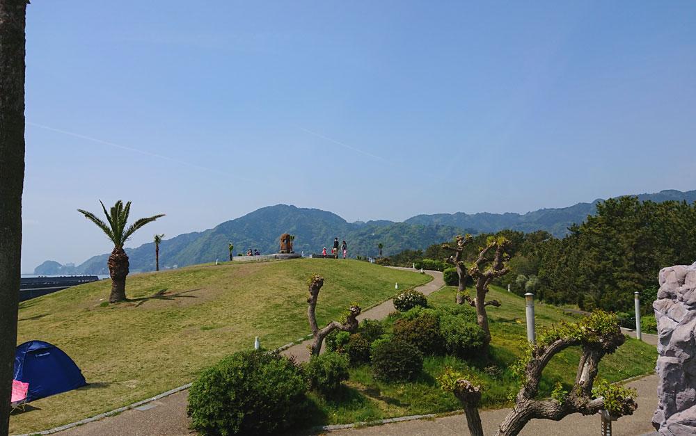 広野海岸公園の見晴らしの丘