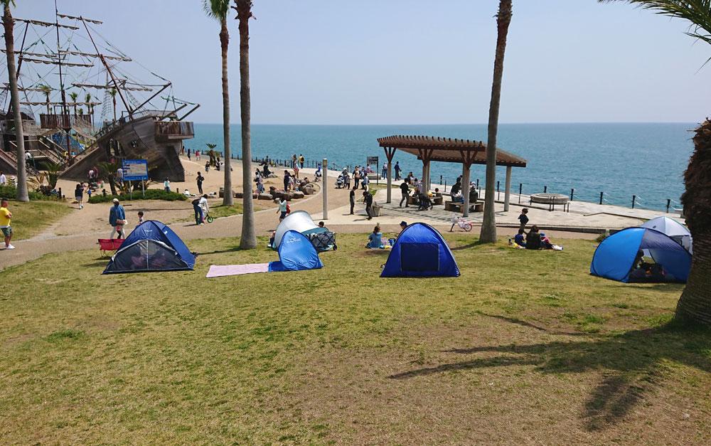広野海岸公園のテント