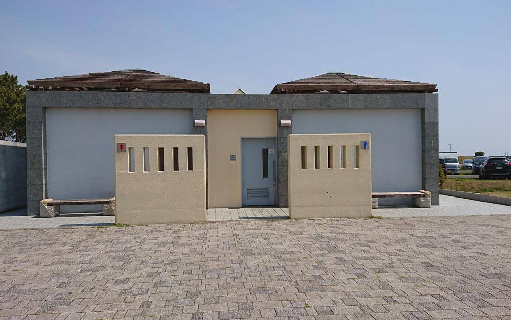 広野海岸公園のトイレ