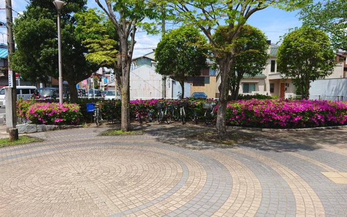 清水山公園の駐輪場