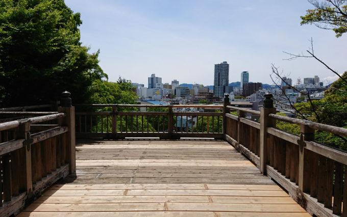 清水山公園のからの風景