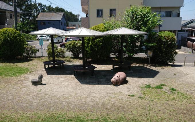 高松南公園の休憩場所