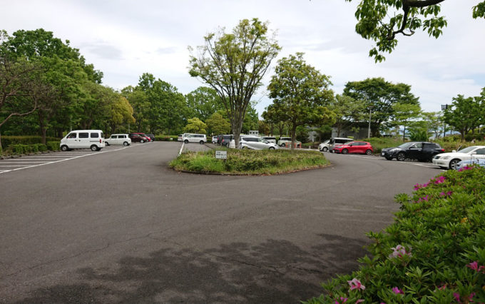 清水日本平公園の駐車場